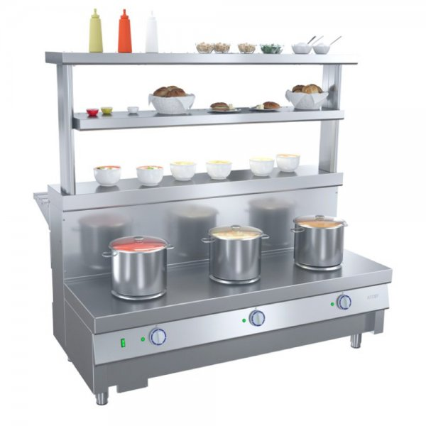 ELECTRIC 3 BURNER SOUP WARMER